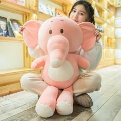 ins可爱卡通安抚大象毛绒玩具软体粉色小象公仔玩偶