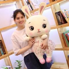 可爱网红穿裙兔子公仔毛绒玩具布娃娃萌玩偶睡觉抱枕床上布偶女孩