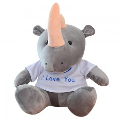 我的莫格利男孩杨紫同款玩偶 凌熙犀牛娃娃动物犀牛公仔牦牛毛绒