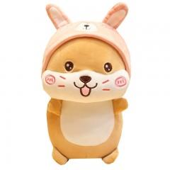 可爱变身仓鼠公仔毛绒玩具带帽小老鼠玩偶布娃娃鼠年吉祥物娃娃女