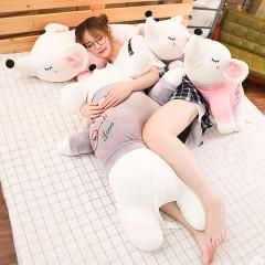 羽绒棉情侣老鼠长抱枕大号软体趴款老鼠毛绒玩具公仔儿童生日礼物