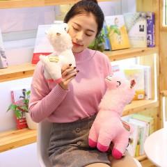萌妹子羊驼毛绒玩具公仔小可爱女生玩偶女孩仿真床上睡觉抱布娃娃