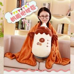 创意可爱奶瓶抱枕睡觉抱枕毯儿童生日礼物毛绒玩具布娃娃