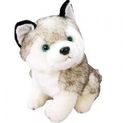 可爱狗狗仿真哈士奇公仔毛绒玩具玩偶趴趴狗娃娃儿童生日礼物女生