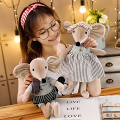 鼠伯特系列毛绒玩具芭蕾鼠公仔鼠年吉祥物娃娃男女孩睡觉床上玩偶