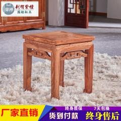 红木八仙桌刺猬紫檀餐桌 花梨木四方桌 新中式实木饭桌椅组合
