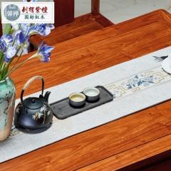 红木餐桌长方形花梨木餐台刺猬紫檀实木家用中式饭桌简约餐桌家具