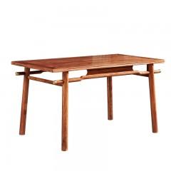 红木家具长方形餐桌刺猬紫檀花梨木新中式餐台餐厅实木餐桌椅组合