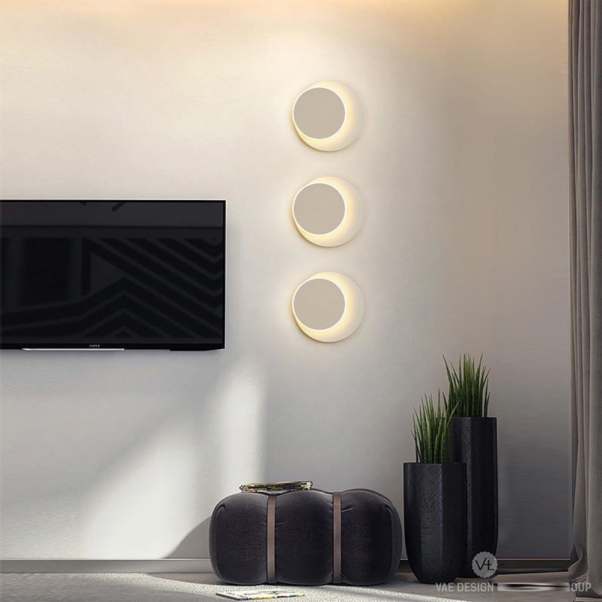 新款高档酒店壁灯圆形方形简约床头灯个性创意可旋转墙壁灯