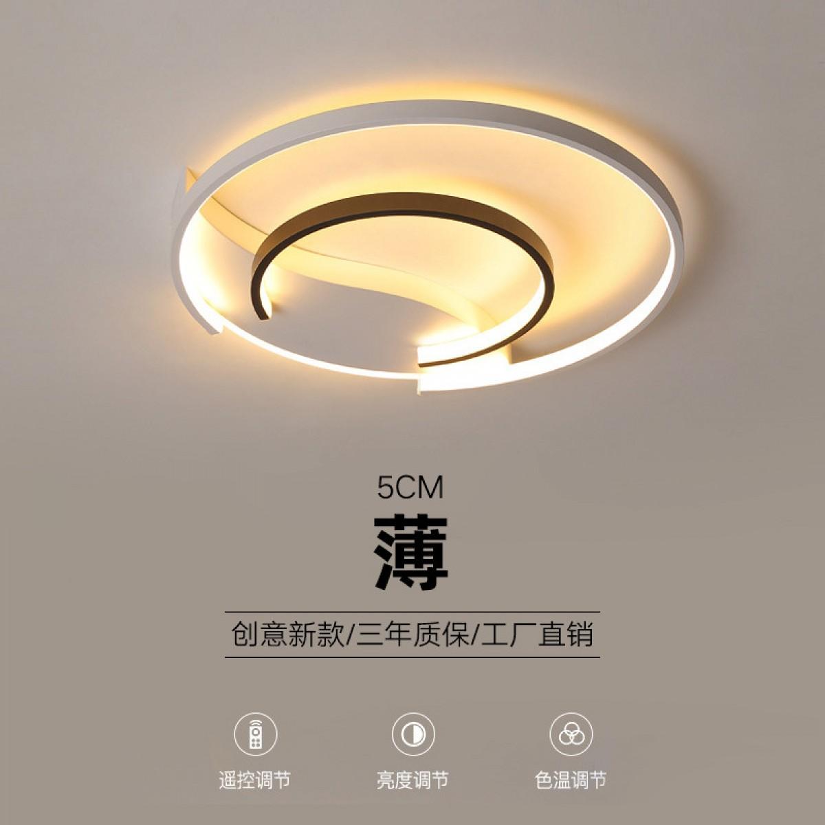 圆形卧室灯简约现代led吸顶灯大气家用房间主卧灯2019书房灯具