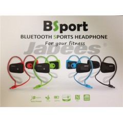 Jabees BSport专业运动防水蓝牙4.0耳机入耳式立体声头戴式通用型