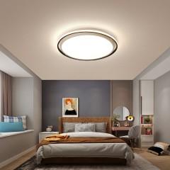觅朵新款led吸顶灯简约现代圆形卧室灯创意铝边阳台过道餐厅灯具