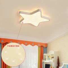 2019新款儿童房灯个性创意超薄星星吸顶灯led男女孩卡通房间灯具