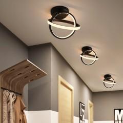 觅朵新款过道灯led现代简约走廊吸顶灯双圈铝材玄关阳台北欧灯具