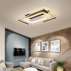觅朵新款客厅灯长方形简约现代LED吸顶灯个性创意铝材主卧灯具